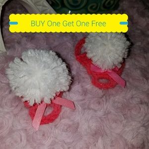 Other - 2 Pair for $4 Handmade Crochet Baby Sandals