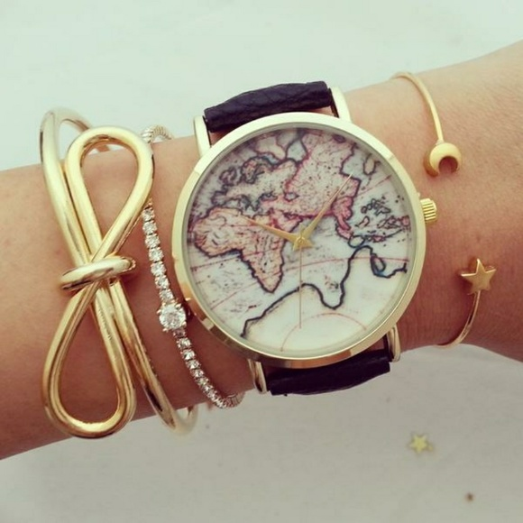 47 off urban outfitters accessories uo world map watch from m58fc100e6a58303df002bdee gumiabroncs Choice Image