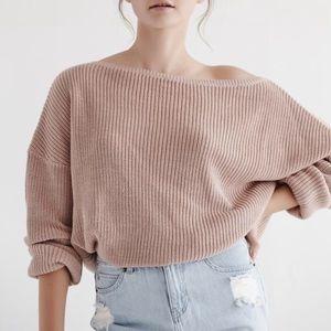 Callahan Sweaters - CALLAHAN Fisher Off Shoulder Sweater