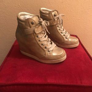JustFab Shoes - Gold wedge sneakers
