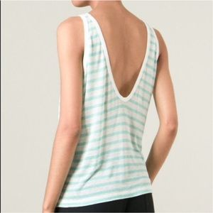 T by Alexander Wang Tops - T by Alexander Wang Striped Linen Tank Size S NWT