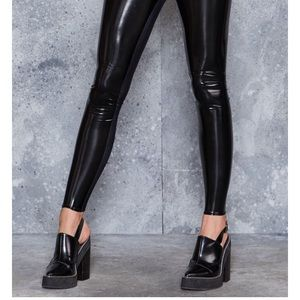 Blackmilk Pants - NWT 🔥 Faux Leather BlackMilk New Slicks Leggings
