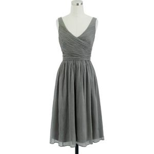 J. Crew Dresses & Skirts - J. Crew Silk Chiffon Heidi Dress Grey