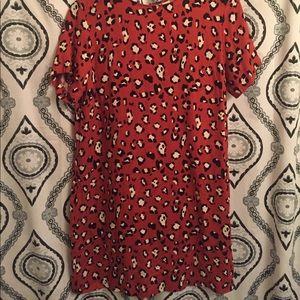 Evereve Dresses & Skirts - Allison Joy Orange Animal Print Dress