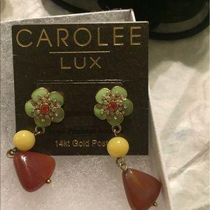 CAROLEE LUX - gold post earrings