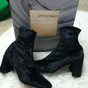 Jeffrey Campbell Shoes - Jeffrey Campbell Cienega-Lo Black Velvet Boots 9.5