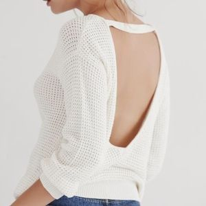 Callahan Sweaters - CALLAHAN Waffle V-Back Sweater