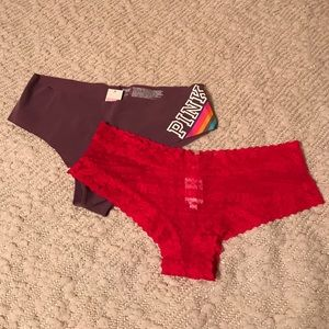 NWT Victoria's Secret PINK Panties Bundle of 2 L