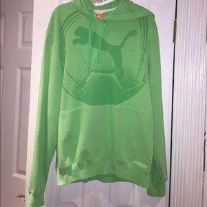 Puma Tops - NWOT lime green Puma hoodie