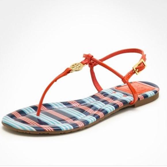 c197efb43 Tory Burch habanero pepper Emmy sandals Sz 10. M 58fc1bf199086a632b03020b