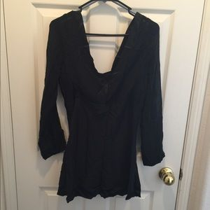 Tops - V-NECK SHEER TOP WITH TANK TOP LINING