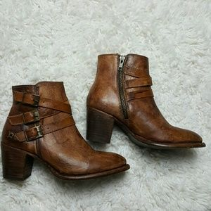Bed Stu Shoes - Bedstu Begin Buckle Ankle Boots Tan 6.5 NEW