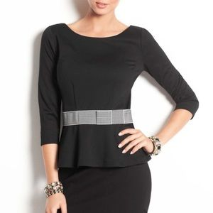 Ann Taylor Tops - Ann Taylor peplum top with bow (petite)