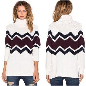525 America Sweaters - 525 AMERICA 💥$237* Zig Zag Turtleneck Sweater