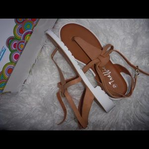 traffic Shoes - sandals . new in box .
