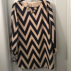 J. Crew Dresses & Skirts - Like new chevron dress