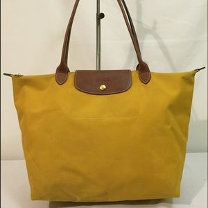 Longchamp Handbags - Longchamp small le pliage mustard tote