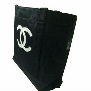 Chanel  Handbags - Chanel Tote with White Sequins Logo NEW VIP