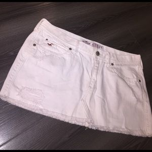 Women's White Hollister Denim Skirt on Poshmark