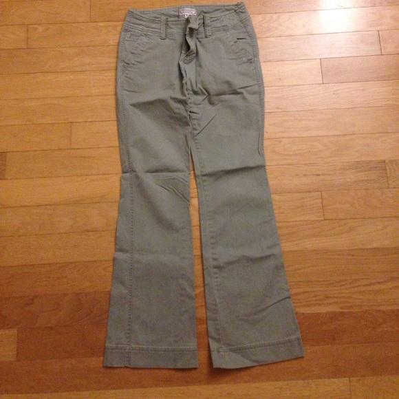 Bootcut olive pants