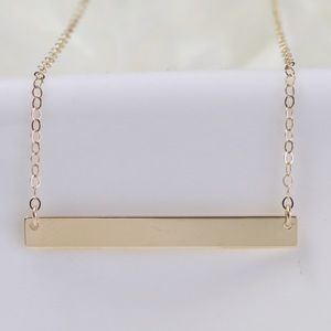 Jewelry - ✨14K GOLD-FILLED✨ Horizontal Blank Bar Necklace