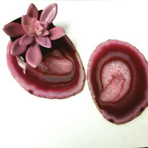 "Other - 🌹Marching Pair of Rose Agate Coasters - 4.5"" each"