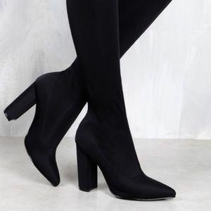 Boutique Shoes - Black OTK / thigh high boots