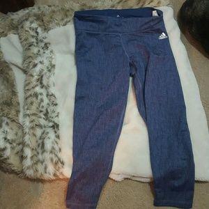 Adidas workout cropped leggings