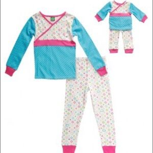 Dollie & Me Other - Dollie & Me Cross My Heart Snug Fit Pajamas