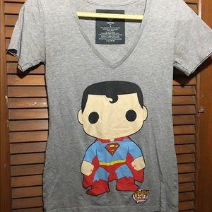 Hot Topic Tops - Funko Pop! Superman shirt