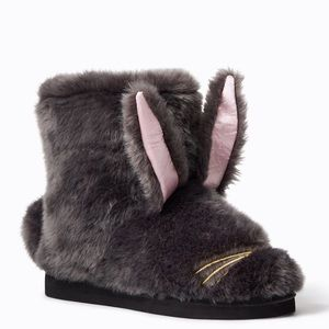 kate spade Bethie Faux Fur Bunny Slippers
