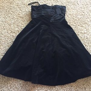 Plenty by Tracy Reese Dresses & Skirts - PLENTY By Tracy Reese Black Velvet Party Dress Bow