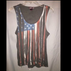 Rock & Roll Cowgirl Tops - 💋FINAL RED. NWT.ROCK&ROLL Cowgirl XL Flag Tank