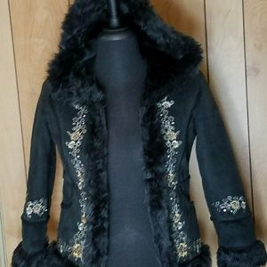 Big Chill Other - Black Floral Zipper Jacket Girls size 10/12 M