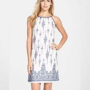 Taylor Dresses Dresses & Skirts - Taylor Dresses Embroidered Voile Shift Dress