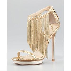 B Brian Atwood Shoes - 💕 B BRIAN ATWOOD cassiane gold fringe snakeskin
