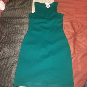 Forever 21 Bodycon Turquoise Dress Size S