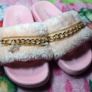 Other - Girls fuzzy princess slides