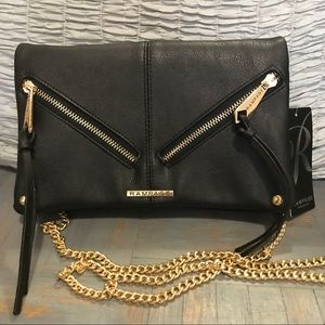 Rampage Handbags - Black Rampage Crossbody Bag with Gold Detail