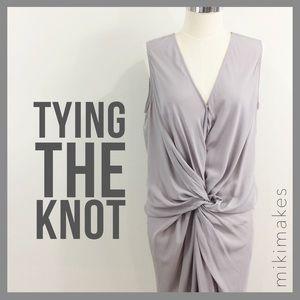 Mustard Seed Dresses & Skirts - 🆕 MUSTARD SEED • NWT grey twist knot front dress