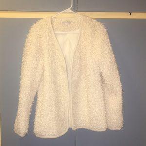 English Factory Jackets & Blazers - White Boucle Jacket from English Factory