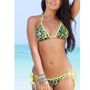 Other - ✅✅LAST✅⚡️SALE⚡️Sexy Yellow Leopard Swimwear Bikini