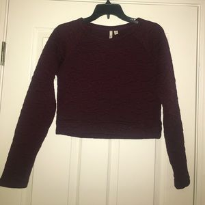 Frenchi Tops - Frenchi long sleeve crop top