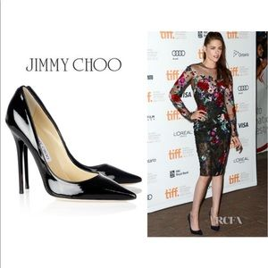 Jimmy Choo Shoes - Jimmy Choo Abel Embossed Leather Heel