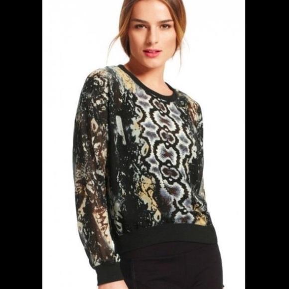 59e13e4cf8edcb CAbi Tops   Size Xs Trendy Snake Print Long Sleeve Top   Poshmark