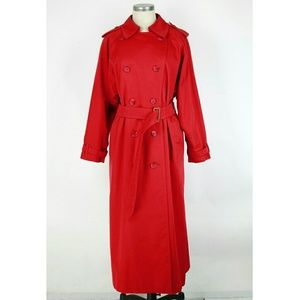 Burberry Jackets & Blazers - Vintage Burberry Red Trench Coat