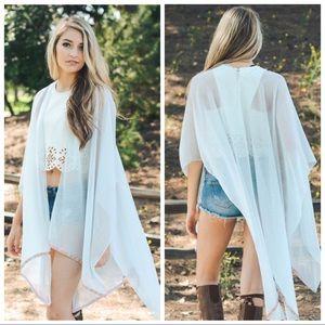 SoChic Sweaters - Just In ❤White Chevron Trim Kimono