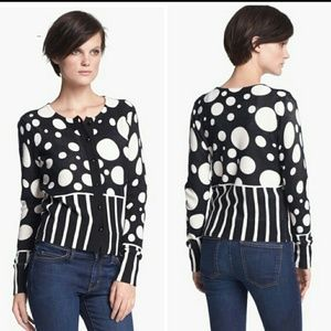 Tracy Reese Tops - LIKE NEW. TRACY REESE black and white cardy