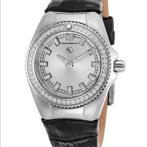Technomarine Accessories - Technomarine Diamond Watch Leather Strap