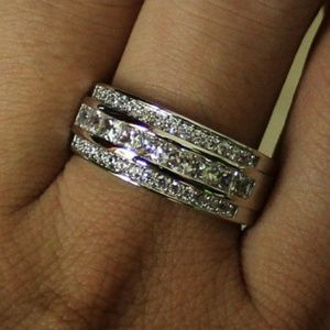 Jewelry - New White Gold Filled CZ Ring Size 8